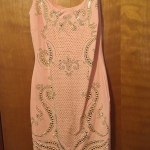 pink and gold Dress